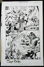 CREATURE COMMANDOS #7 PAGE 4 2000 ORIGINAL ART-BY SCOT EATON & RAY KRYSSING