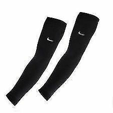 Set of 2 Arm Stretch Sleeves Cooling Sun Protection Covers UV Block Guard Black