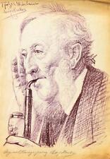 """Adolf Hacker 1873-1943 Heidelberg / Lithographie """"Pfälzer Weinbauer"""" 1913 sign."""