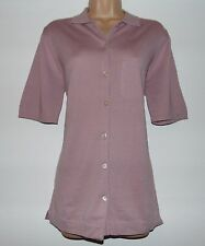 NWT PETER HAHN FINE MERINO WOOL/COTTON SHORT SLEEVE  CARDIGAN, 10 UK  WAS £94