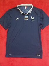 ULTRA RARE NIKE FFF MAILLOT EQUIPE FRANCE HOME 14/16 PLAYER ISSUE SIZE MEDIUM
