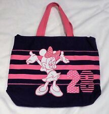 DISNEY STORE  MINNIE MOUSE TOTE BAG LARGE WITH SHOULDER STRAP CANVAS NWT