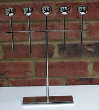 Silver 5 Arm Metal Candlestick Candelabra Candle Holder Taper Dinner New