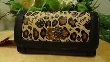 NWT Loungefly Hello Kitty Leopard with Turnlock Hello Kitty Face Wallet