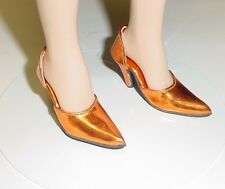 Doll Shoes, 48mm Easy to Wear for Tyler - Metallic Orange