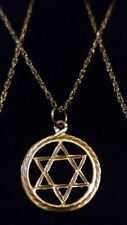 "UNISEX Vintage 9ct 375 Solid Yellow Gold STAR of DAVID Pendant on 18"" Chain*****"