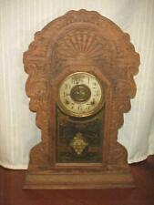 Antique Sessions 8-Day Gingerbread Clock w/Chime and Timer