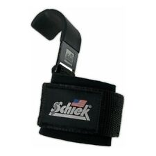 Schiek POWER LIFTING HOOKS Model 1200 Padded Wrist Supports Metal Hooks
