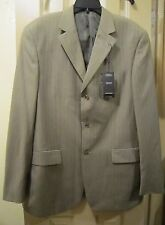 NEW 44L ANGELO ROSSI LIGHT BROWN HAND TAILORED 2 PC SUIT, 3 BUTTON, 44X38, NWOT