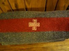 Vintage Original Swiss Army 100% Wool Blanket~ Made in 1937