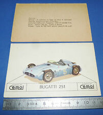 CHROMO 1950-1959 CHOCOLAT CEMOI DECOUPAGE AUTOMOBILE AUTO BUGATTI 251