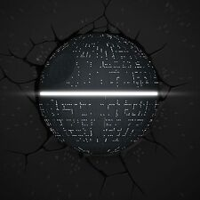 STAR WARS DEATH STAR 3D DECO LED LIGHT WITH CRACK STICKERS NEW LAMP