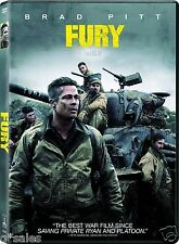Fury (Brad Pitt &  Shia LaBeouf) BRAND NEW DVD + DIGITAL COPY