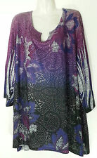 CATHERINES EMBELLISHED TOP BLOUSE 5X 34 36 NEW PLUS SIZE TOPS 4X