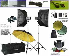 NEW Quality 600W/S (200W/S X 3) Total Studio Strobe Light Kit
