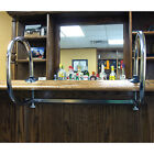 Rounded Service Bar Rail - Double Arm - Chrome - 1