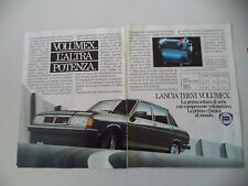 advertising Pubblicità 1982 LANCIA TREVI VX VOLUMEX