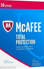 New McAfee Total Protection 2017 10 Devices 1 Year Windows Mac iOS Android