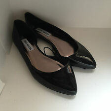 NEW ARRIVAL! STEVE MADDEN INDII BLACK POINTY BALLET FLATS SANDALS SHOES 7 37