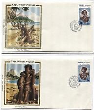 16 Republic of PALAU Capt Wilson's Voyage CANOES FDC First Day Cover Collection