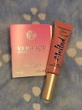 NEW FULL SZ TOO FACED MELTED NUDE LIQUID LIPSTICK VERSACE BRIGHT CRYSTAL PERFUME