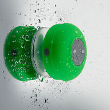 NEW Waterproof Wireless Bluetooth Speaker Handsfree Mic Suction Shower Moun
