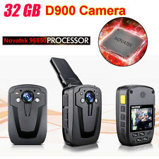 1080P D900 Body Personal Security &Police Camera Night Vision 6-hour Record 32GB
