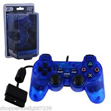 PS2 Shock Controller (Sony PlayStation 2) Dual Vibration Gamepad New Blue