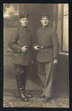 Soldatenfoto Portrait mit zwei Soldaten ww1 (2)