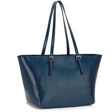 Womens Shoulder Handbag Ladies Stylish Designer Faux Leather Tote Bags Large New