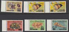 COCOS(KEELING) ISLANDS:1990 POSTAGE PAID overprints on Shells set SG234-9 MNH