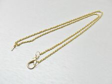 "NECK CHAIN FOR JEWELERS LOUPE 30"" GOLD TONE With LOCK & CLIP HOLDS LOUPES & MORE"