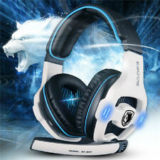 Hot Sades 7.1 Surround USB Headband Pro Gaming Headset For PC Laptop SA-903