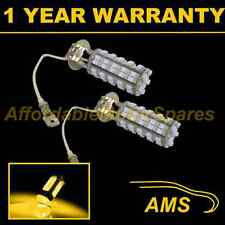 2X H3 YELLOW 60 LED FRONT FOG SPOT LAMP LIGHT BULBS HIGH POWER XENON FF500201