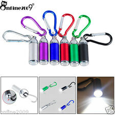1W Mini Pocket Key Chain LED Torch Zoom Carabiner Lamp Фонарик Flashlight