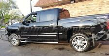 2014-2017 Chevy Silverado/Sierra Crew Cab Body Side Molding Flat Chrome 4Pc