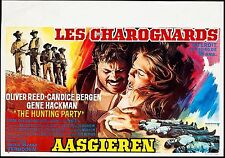 THE HUNTING PARTY 1971, ORIGINAL POSTER, CANDICE BERGEN, GENE HACKMAN, VIOLENT