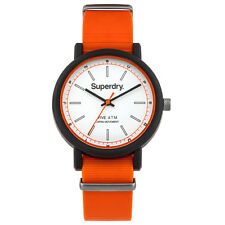 Superdry Campus Orange Silicone Strap Mens Watch SYG197O