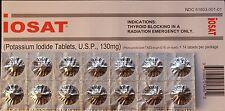 iOSAT Potassium Iodide Tablets 130 mg ( 28 Tablets ) Thyroid Radiation Blocking