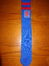 LOS ANGELES CLIPPERS NBA BASKETBALL 2 STRIPE SQUAD HIGH CREW TUBE SOCKS LARGE