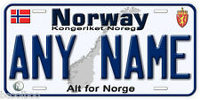 Norway Any Name Personalized Novelty Car License Plate B01