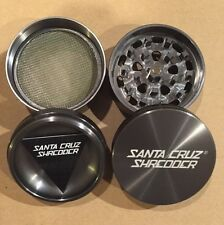 "Medium 2.2"" Gun Metal Grey 4 Piece SANTA CRUZ SHREDDER Aluminum Grinder"