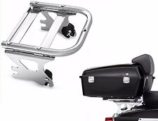 CHROME DETACHABLE TWO UP TOUR PAK MOUNTING LUGGAGE RACK FOR HARLEY FLHT FLHX