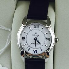 Concord Impresario Leather Strap White Face Womens Wristwatch