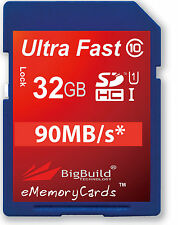 32GB Memory Card For Canon EOS 600D DSLR Camera 32GIG SD SDHC Class 10
