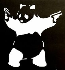GUN PANDA BEAR DECAL STICKER CAR TRUCK SUV TEDDY CHEVY FORD HONDA VW DODGE JDM