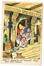 CPA BLANCHE NEIGE ET LES 7 NAINS N° 10