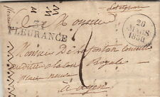Lettre France 31 Fleurance + Bloc Dateur Gers 1830 Cover Brief