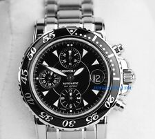 MONTBLANC XL SPORT CHRONOGRAPH WATCH 3273 STAINLESS STEEL BRACELET 7034 NEW BOX