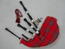 New Highland Bagpipe Rosewood Black Color Immation Ivory Amount/Scottish Bagpipe